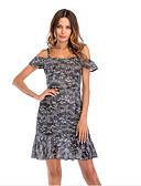 זול 2017ביקיני ובגדי ים-כתפיה מעל הברך פרחוני - שמלה נדן רזה בסיסי בגדי ריקוד נשים / קיץ