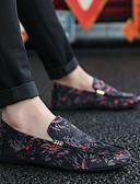 tanie Męskie koszule-Męskie Komfortowe buty Płótno Wiosna Mokasyny i buty wsuwane Biały / Czerwony