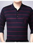 זול חולצות לגברים-פסים צווארון חולצה סגנון רחוב Polo - בגדי ריקוד גברים / שרוול ארוך