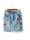 tanie Damska spódnica-Damskie Mini Bodycon Spódnice Solidne kolory Wysoka talia
