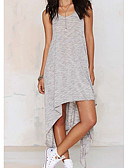 cheap Maxi Dresses-Daily Maxi Slim Loose Dress Solid Colored Backless Strap Spring Gray M L XL / Sexy