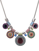 cheap Men's Underwear & Socks-Women's Bib Chain Necklace / Statement Necklace - Resin Ladies, Vintage, Ethnic, Fashion Black, Rainbow, Red 41 cm Necklace Jewelry For Party / Evening, Gift