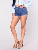 זול מכנסיים לנשים-מכנסיים אחיד שורטים ג'ינסים סגנון רחוב בגדי ריקוד נשים