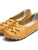 ieftine Rochii Damă-Pentru femei Pantofi Piele Primăvară / Toamnă Confortabili Mocasini & Balerini Toc Drept Alb / Negru / Galben