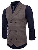 ieftine Blazer & Costume de Bărbați-Bărbați Zvelt Mărime Plus Size Γιλέκο Activ Plisat
