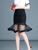 cheap Women's Skirts-Women's Maxi Bodycon Skirts - Solid Colored Lace