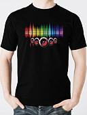 tanie Męskie spodnie i szorty-T-shirty LED Świecące w ciemności Czysta bawełna LED / Casual 2 akumulatory AAA
