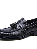 זול עניבות ועניבות פרפר לגברים-בגדי ריקוד גברים נעלי נהיגה טול סתיו / חורף נעליים ללא שרוכים שחור / חום / אדום