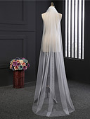 cheap Wedding Veils-One-tier Classical Wedding Veil Chapel Veils 53 Fringe Tulle