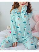billige Robes & Sleepwear-Dame U-hals Dress Pyjamas - Geometrisk