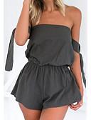 abordables Camisas para Mujer-Mujer Mono - Básico, Un Color Pantalones Harén Sin Tirantes / Primavera / Verano