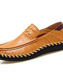 tanie Męskie spodnie i szorty-Męskie Komfortowe buty Skóra nappa / Skóra bydlęca Wiosna / Jesień Mokasyny i buty wsuwane Spacery Czarny / Jasnobrązowy / Ciemnobrązowy