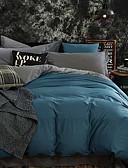 זול שמלות נשים-סטי שמיכה אחיד 4 חלקים פולי / כותנה חוט צבוע פולי / כותנה כיסוי שמיכת יחידה 1 כריות מיטה 2 יחידות סדין יחידה 1