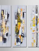 olcso Szalagavató ruhák-Hang festett olajfestmény Kézzel festett - Absztrakt Modern Vászon