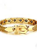 cheap Men's Polos-Men's Black Matte Geometric Chain Bracelet - Stainless Fashion Bracelet Gold / Silver For Party / Gift