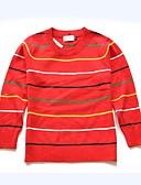 povoljno Džemperi i kardigani za djevojčice-Dijete koje je tek prohodalo Uniseks Jednostavan Dnevno Praznik Prugasti uzorak Dungi Dugih rukava Regularna Pamuk Džemper i kardigan Red