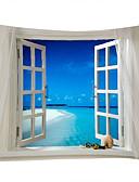 Недорогие Бикини-Пляж Пейзаж Декор стены 100% полиэстер Современный Modern Предметы искусства, Стена Гобелены из