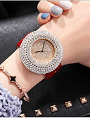 cheap Quartz Watches-Women's Pave Watch Casual Watch Genuine Leather Band Casual / Fashion Black / White / Red
