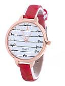 זול טישרט-Xu™ בגדי ריקוד נשים שעון יד קווארץ שעונים יום יומיים PU להקה אנלוגי פרח אופנתי שחור / כחול / אדום - אדום כחול אדום כהה שנה אחת חיי סוללה