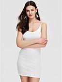 cheap Women's Dresses-Women's Cotton Skinny Bodycon Dress - Solid Colored Strap