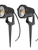 olcso Bikinik és fürdőruhák 2017-ZDM® 2pcs 7 W Lawn Lights Vízálló Kültéri világítás Meleg fehér Hideg fehér Természetes fehér 24V 12V