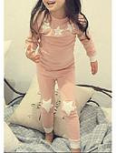 זול הלבשה תחתונה וגרביים לבנות-לבוש שינה שרוול ארוך שמיים סרט מצוייר בנות ילדים