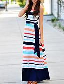 ieftine Print Dresses-Pentru femei Șic Stradă Zvelt Teacă Rochie Dungi Talie Înaltă Maxi / Vară