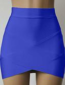 זול שמלות נשים-אחיד - חצאיות צינור בסיסי בגדי ריקוד נשים מותניים גבוהים / קיץ