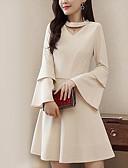 tanie Casualowe sukienki-Damskie Moda miejska Szczupła Spodnie - Solidne kolory Beżowy / W serek / Wyjściowe