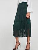 tanie Damska spódnica-Damskie Bodycon Spódnice - Wyjściowe Solidne kolory / Frędzel
