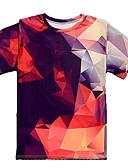 tanie Koszulki i tank topy męskie-Puszysta T-shirt Męskie Podstawowy Bawełna Okrągły dekolt Kolorowy blok / Krótki rękaw / Długie