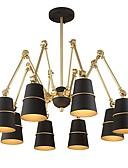 baratos Vestidos Femininos-JLYLITE 8-luz Sputnik Lustres Luz Ambiente Acabamentos Pintados Metal Estilo Mini 110-120V / 220-240V Lâmpada Não Incluída / E12 / E14 / SAA / FCC / VDE