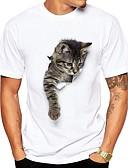 baratos Camisetas & Regatas Masculinas-Homens Camiseta Fofo Moda de Rua Estampado, Animal