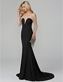 cheap Evening Dresses-Mermaid / Trumpet Off Shoulder Floor Length Chiffon See Through Cocktail Party / Formal Evening Dress with Beading by TS Couture®