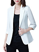 cheap Women's Blazers-Women's Work Formal Work Plus Size Solid Colored Simple