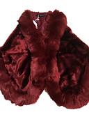 cheap Women's Fur Coats-Women's Faux Fur Fur Coat - Solid Colored Square Neck