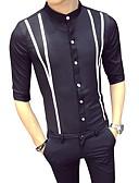 povoljno Muške košulje-Majica Muškarci - Osnovni Dnevno / Rad Color block Kineski ovratnik Slim