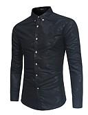 tanie Męskie koszule-Koszula Męskie Nadruk Szczupła - Jendolity kolor / Długi rękaw