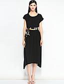 זול שמלות נשים-מידי אחיד - שמלה גזרת A בוהו / סגנון רחוב ליציאה בגדי ריקוד נשים