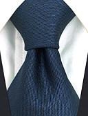 זול עניבות ועניבות פרפר לגברים-עניבת צווארון - אחיד / סרוג מסיבה / עבודה בגדי ריקוד גברים