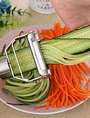 זול כבל & מטענים iPhone-מטבח אביזרים כלי בישול רב תכליתי נירוסטה julienne קלף ירקות קלר כפול הקצעה פומפיה