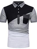 זול חולצות פולו לגברים-קולור בלוק בסיסי סגנון רחוב Polo - בגדי ריקוד גברים טלאים