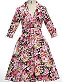 preiswerte Damen Kleider-Damen Retro Hülle Kleid Blumen Midi