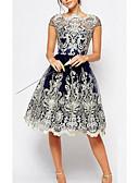 cheap Evening Dresses-Women's Plus Size Sheath Dress - Geometric Blue / Summer / Lace