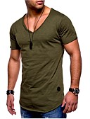 cheap Men's Pants & Shorts-Men's Sports Basic Plus Size Cotton Slim T-shirt - Solid Colored / Short Sleeve