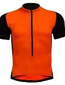 tanie Kwarcowy-Męskie Damskie Krótki rękaw Koszulka rowerowa - Czarny / Pomarańczowy Jednokolorowe Rower Dżersej, Szybkie wysychanie Pasek antypoślizgowy Oddychający, Wiosna Lato, Nylon Elastyczny