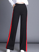 cheap Women's Pants-Women's Cotton Loose Wide Leg Pants - Color Block