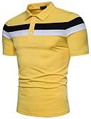povoljno Muške polo majice-Polo Muškarci - Ulični šik Dnevno Pamuk Color block Kragna košulje Obala XL / Kratkih rukava / Ljeto