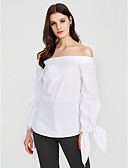 preiswerte Hemd-Damen Gestreift Baumwolle Hemd, Bateau