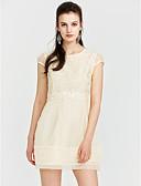 cheap Women's Dresses-Women's Cute Street chic A Line Sheath Lace Dress - Solid Colored Geometric, Lace High Rise